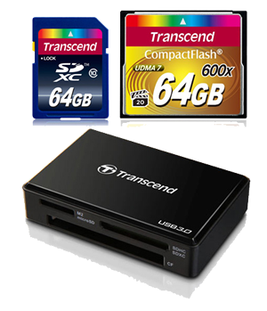 Transcend SDXC CF card reader usb 3.0